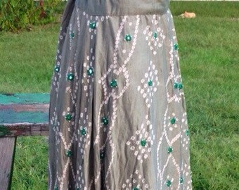 Tie dye Sari Skirt medium