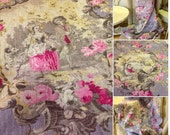 Vintage linen fabric h 140 cm designs that are repeated in either width or height