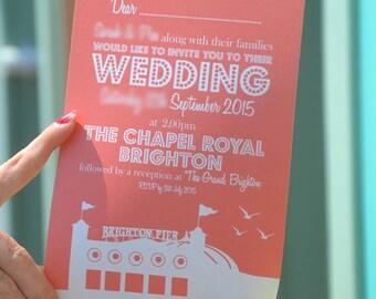 Brighton Pier Wedding Invitation