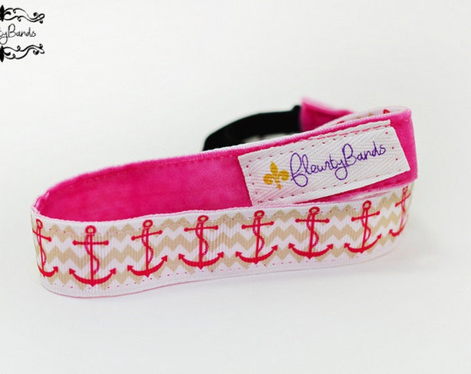 Nonslip Headband  Chevron Anchors