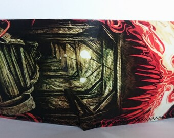 venom cave - recycled comic book wallet, slim wallet, hanmade wallet, card holder, thin wallet, vinyl wallet, men's wallet