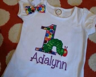 Girl's Hungry Caterpillar Birthday Shirt