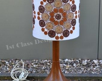 Mid Century modern Teak lamp with aftermarket lamp shade - Denmark