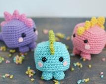 Mini Dinosaur Knitting Pattern : Unique mini amigurumi related items Etsy