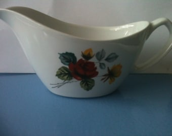 Alfred Meakin Red and Yellow  Rose Duet  Gravy Boat