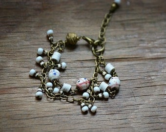 Medicine man trade bead bracelet