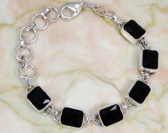 Bracelet 925 Sterling silver onyx