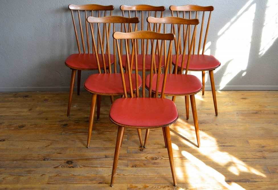 Lot de chaises baumann ann es 50 style bistrot pieds for Chaise bistrot baumann prix