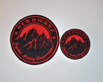 Red Dwarf Jupiter Mining Corporation Logo - Sci-Fi Cosplay Patch!