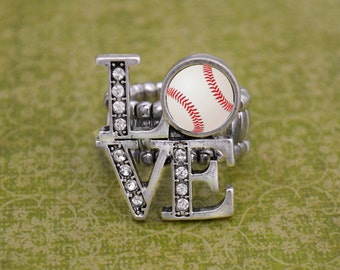 LOVE Baseball Stretchy Ring