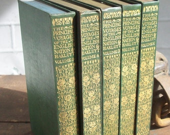 The Principle Navigations Voyages Traffiques & Discoveries of the English Nation / by Richard Hakuyt / Volumes 3,4,5,6,7 / HALF OFF