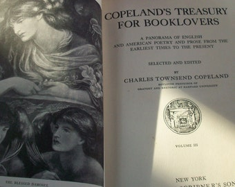 Copelands Treasury for Book Lovers / 5 Large Red Volumes / A Panorama of English and American Poetry and Prose  / 1930