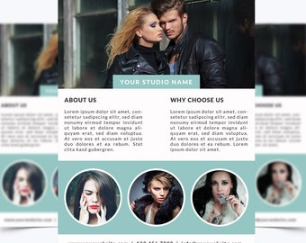 Photography Flyer Template 006 for Photoshop 8.5 x 11 - Photographer Template - Photography Template