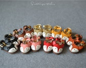 "7 colors available! cute fox shoes handmade 1/6 12"" Blythe Pullip doll shoes handmade leather shoes blythe/azone/OOAK/JerryB/MMK doll outfit"