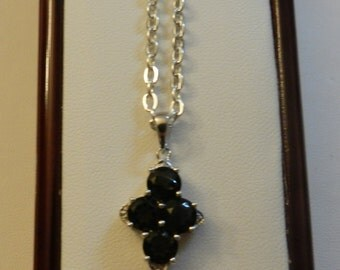 Crystal Cross Necklace. V3