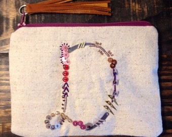 Embellished Pouch. D Bag. Coin Purse