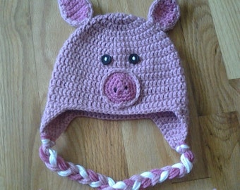 Crochet Piggy Hat