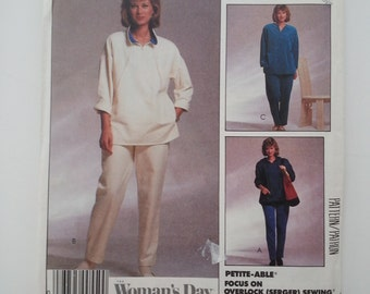Hoodie/workout pants /elastic waist knit pants/ lounge wear/80s vintage patterns / 1987 sewing pattern, Size 14 16, Bust 36 38, McCalls 3305