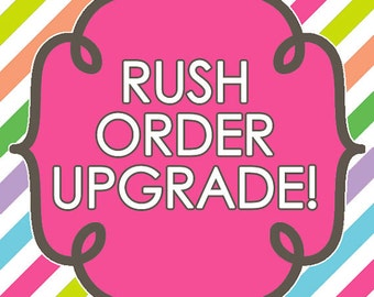 Rush order add on fee