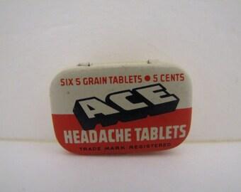 Ace Headache Tablet Tin
