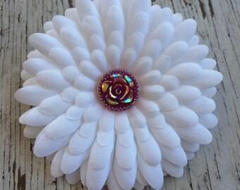 Bridal Hair Clip - Wedding Hair Clip - Bridesmaid Hair Clip - Flower Girl Hair Clip - Wedding Hair - Bridal Hair - Flower Hair Clip