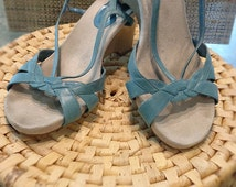 Ladies wedge Summer Sandals By <FOOT GLOVE>, shoes size 9 USA