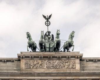 Brandenburg Gate Photography, Germany Photography, Bradenburg Gate Berlin, Brandenburger Tor, Porte de Brandebourg, Travel Print Berlin