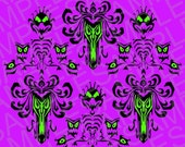 Disney Inspired Haunted Mansion Wallpaper SVG and DXF Cut File