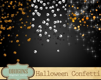 70% OFF Halloween Confetti Overlays, Halloween Confetti Clipart, PNG digital confetti Clip art