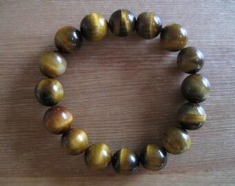 Tigereye Bead Bracelet -- 205