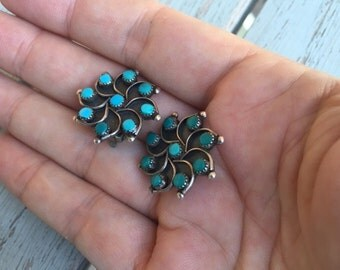 Zuni turquoise earrings -- 288