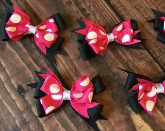 Minnie inspired hair bows
