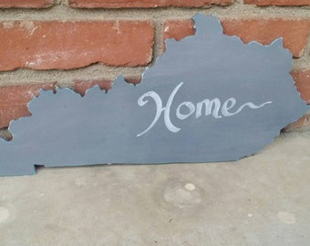Kentucky Decor Kentucky Wood Cutout Kentucky Home Kentucky Sign Kentucky Shape Wood Cutout Kentucky  Wall Decor Chalkpaint Kentucky State