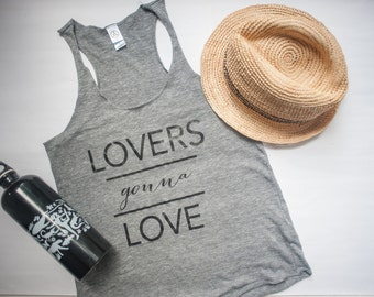 Lovers Gonna Love - Gray Tank Top