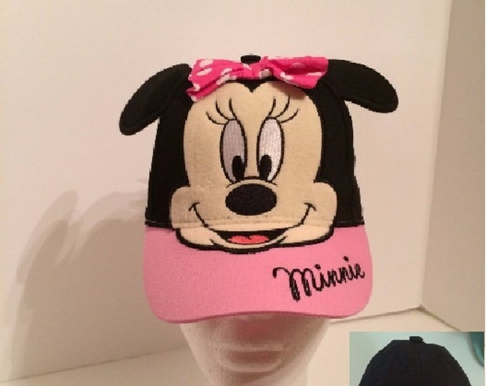 Disney Minnie Mouse Girls Baseball Hat - Personalized