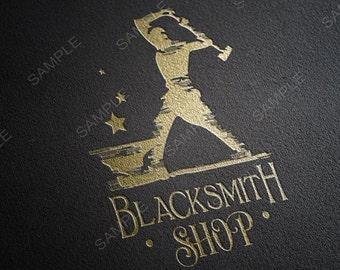 Blacksmith Shop,Blacksmith Logo,Metal Shop Logo,Metalwork stamp, Ironwork Logo,Hammer Logo,Professional Logo