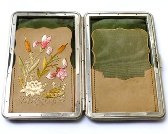 Vintage Embroidered Leather Wallet