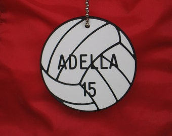 Personalized Volleyball Bag Tag / Volleyball Gift / Volleyball Bag Tags / Volleyball Coach Gifts / Girls Volleyball Swaps