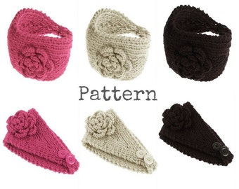 HEADBAND Pattern Earwarmer Pattern Wide Hair Band Headwrap KNITTING PATTERN