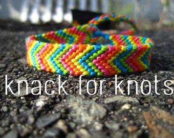 5 Colour Chevron Friendship Bracelet