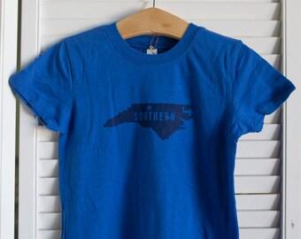 Southern NC Toddler's Tee - Deep Blue
