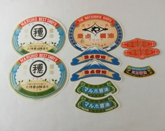Japanese Soy source label set of 10