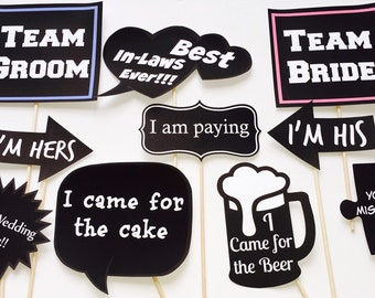 Black and White wedding signs