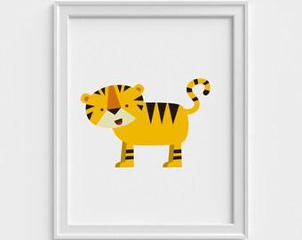 Jungle art print, cute, nursery, kids art print, nursery art print, animal, wildlife, art print, children art print, kids wall art, nature