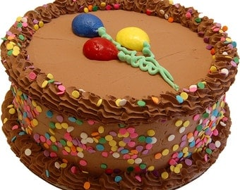 Fake Celebration Chocolate Cake 9 Inch