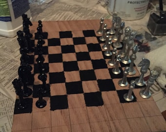 Pewter Chess Set with Board