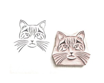 Kitty Cat Rubber Stamp | 024131