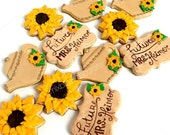 Rustic Sunflower Tea Party Bridal Shower Decorated & Fresh Baked Cookies (1 dozen)