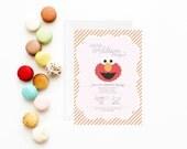 Elmo Invitation | Elmo Invite | Elmo Birthday Party Invitation | Sesame Street Invitation | Girl Pink Elmo Invitation