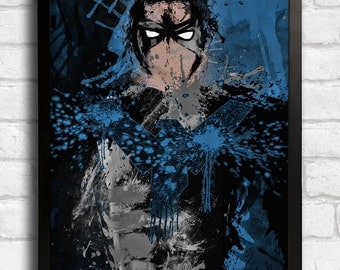 Nightwing - Splatter Art